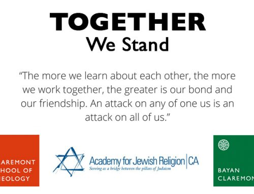 We Stand with the Jewish Community, Firmly Against Hate of Any Kind