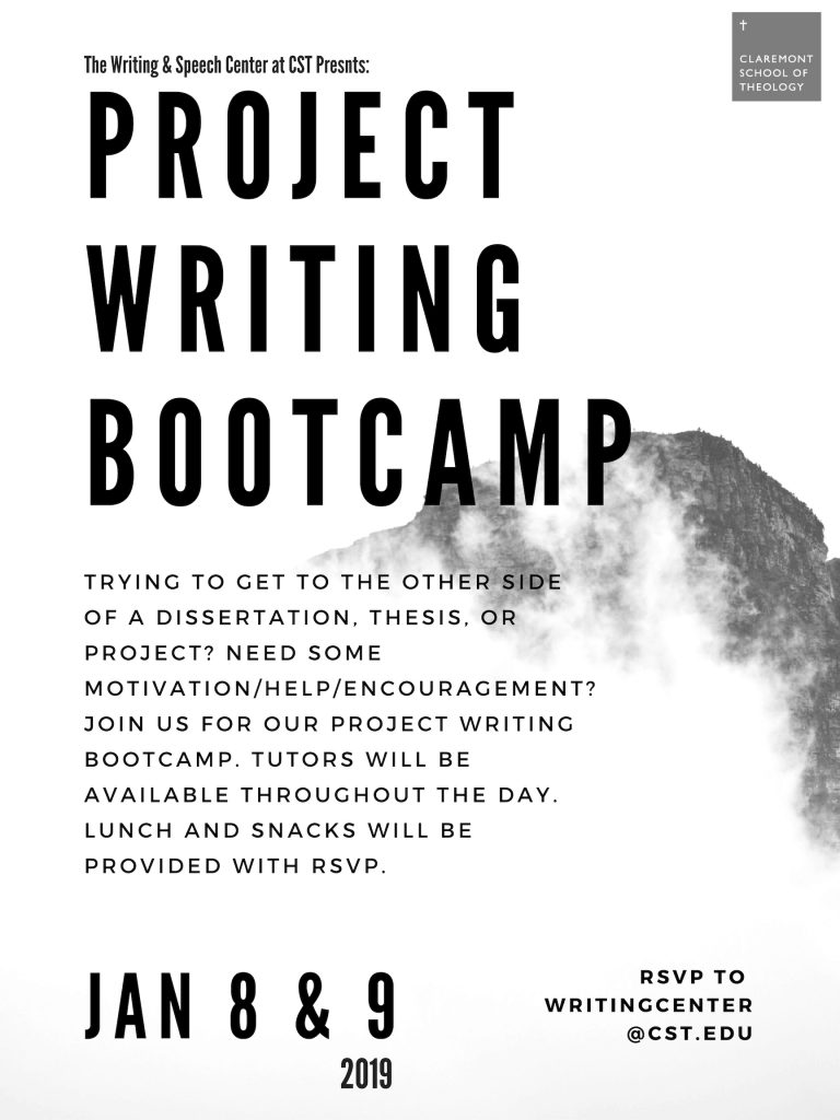 Project Writing Bootcamp